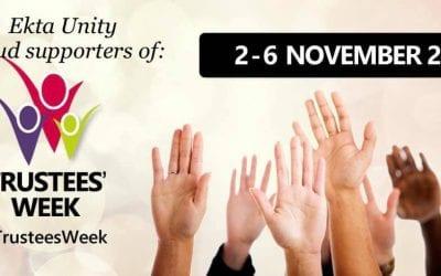 Ekta Unity is proud to support 'Trustees Week' ~ (2nd November 2020 till 6th November 2020)